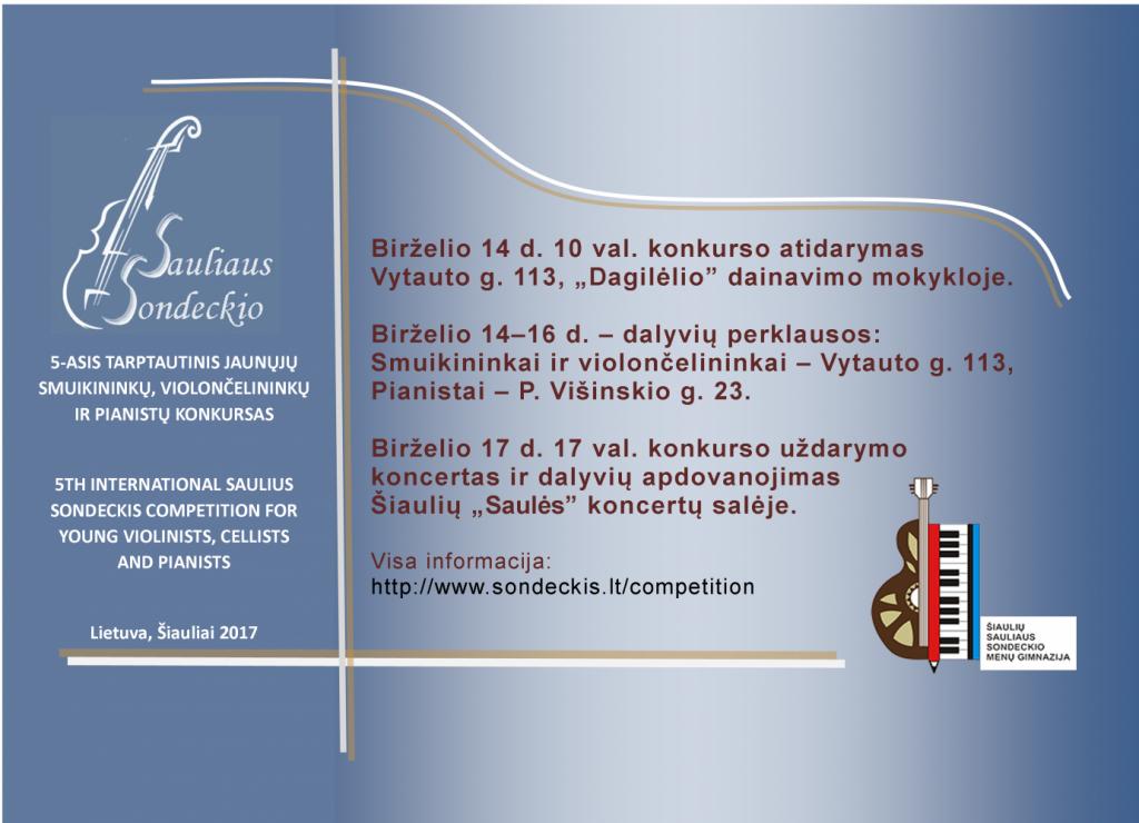 Saulius Sondeckis. Konkursas nn